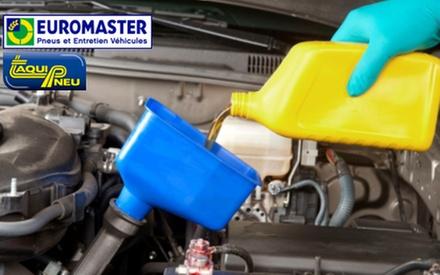 Forfait vidange avec huile et filtre à huile, véhicule année 2000 et plus, dès 44,90 € chez Taquipneu Euromaster