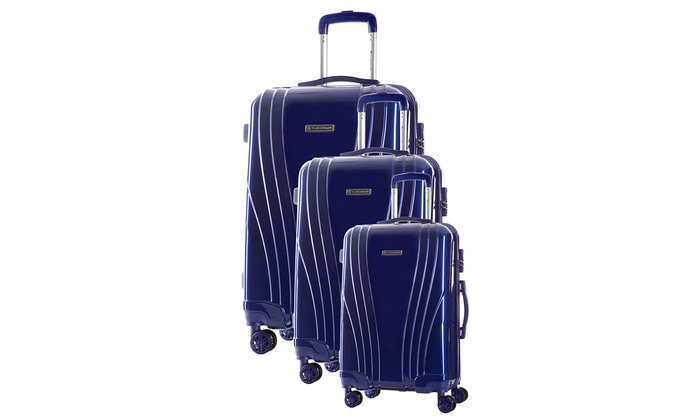 Set de 3 maletas kerry 8 ruedas groupon goods - Maletas platinium ...