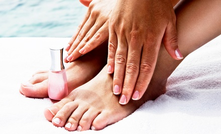 One or Two Mani-Pedis at Angela Salon (Up to 55% Off)