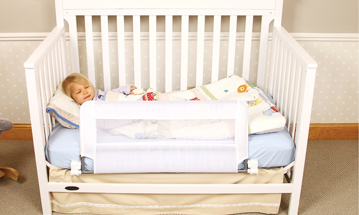 Simple Swing Down Convertible Crib Rail With Bed Rails