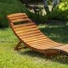 Lisbon Outdoor Wooden Chaise Lounger