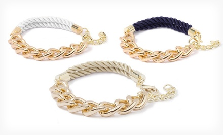 $18.99 for an Ashley Bridget Nautical Bracelet in Black, Navy, Tan, or White ($49 List Price)