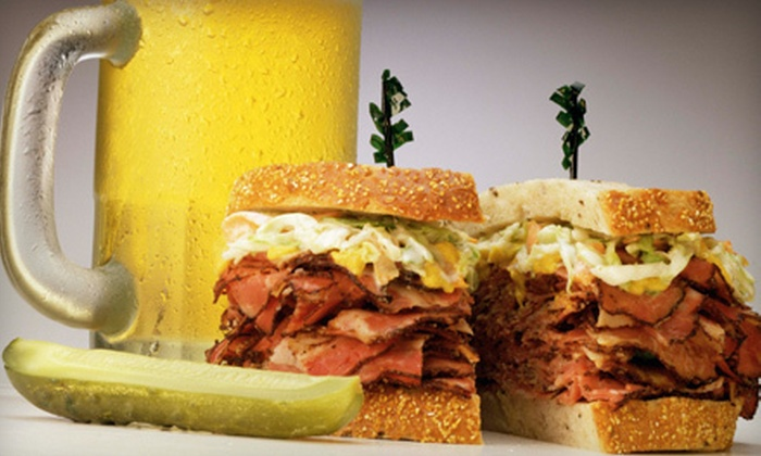 3 Brothers Deli and Brewhouse - Murfreesboro: Pub Food and Drinks at 3 Brothers Deli and Brewhouse (Up to 52% Off). Two Options Available.