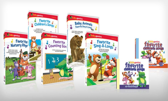 Baby Genius Educational CDs and DVDs: $25 for a Baby Genius Educational CD and DVD Package ($70 List Price). Free Shipping and Free Returns.