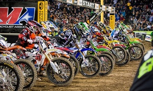Supercross: Monster AMA Supercross on Saturday, February 13, at 6:30 p.m.
