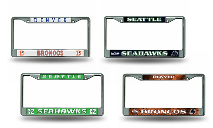 NFL License Plate Frame 2-Pack | Groupon Goods
