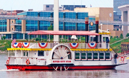 Two Tickets to a Riverboat Sightseeing Tour (a $24 value) - River City Star in Omaha