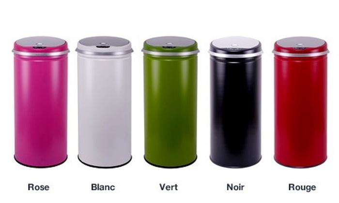 poubelles automatiques color es ou inox capacit 42 ou. Black Bedroom Furniture Sets. Home Design Ideas