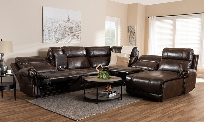 Up To 16% Off on Dacio Sectional Sofa (6-Piece) | Groupon Goods
