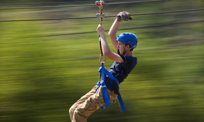 Adventure Ziplines of Branson - Multiple Locations: Zipline Canopy Tour with Option of Motorized Sky Surfer Ride at Adventure Ziplines of Branson (Up to 55% Off)