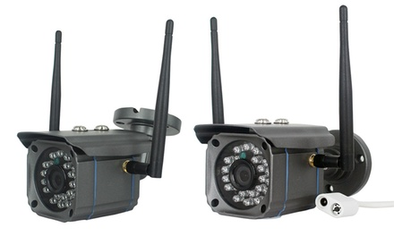 1 ou 2 caméras Wifi HD dextérieur avec carte micro SD 32 Go en option