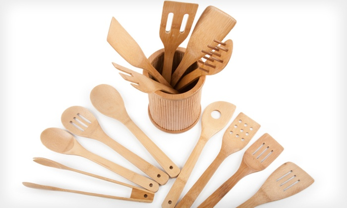 Core Bamboo 14-Piece Utensil Set: $8 for an Eco-Friendly Core Bamboo 14-Piece Utensil Set ($40 List Price)