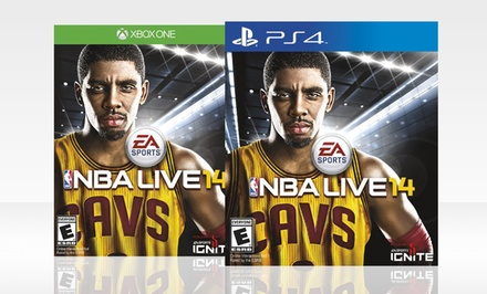 NBA Live 14 for PS4 or XBox One. Free Returns.