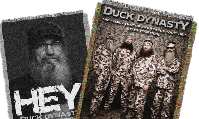 Duck Dynasty Tapestry Throw: Duck Dynasty Tapestry Throw. Multiple Designs Available. Free Shipping.