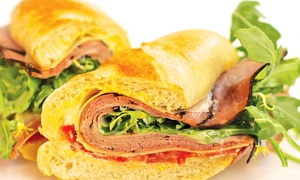 White Apron Specialty Sandwiches: $15 for a Sandwich Meal for Two with Chips and Soft Drinks (Up to $26.26 Value)