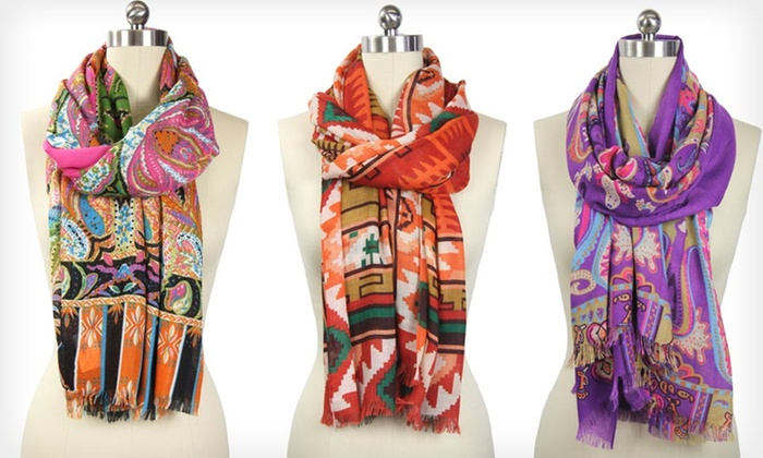 In-Things Scarves and Wraps: In-Things Scarf or Wrap (Up to 77% Off). Multiple Styles Available.