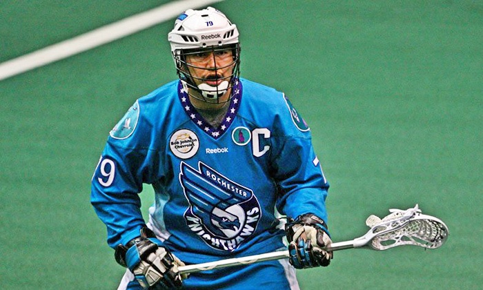 Rochester Knighthawks - Blue Cross Arena: Rochester Knighthawks Lacrosse Game at Blue Cross Arena (Up to 65% Off). Two Seating Options and Three Dates Available.