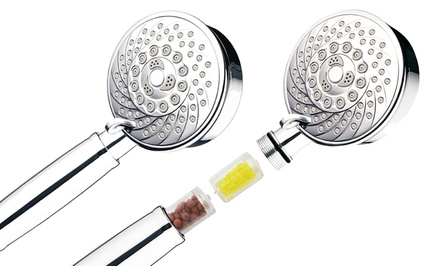 Aquagenix Fusion Water-Purifying 7-Setting Hand Shower with Filter Handle. Free Returns.