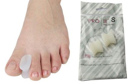 1, 2, o 4 pares de separadores para dedos del pie de gel Pro11 Wellbeing
