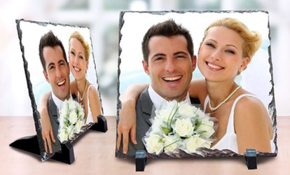 Up to Four Personalised 20x20cm Stone Photos at Gifttag.ae (Up to 52% Off)