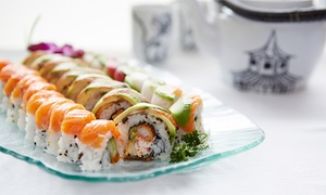 Jaiyen Restaurant: Sushi and Japanese Cuisine at Jaiyen Restaurant (40% Off). Two Options Available. Groupon Reservation Required.