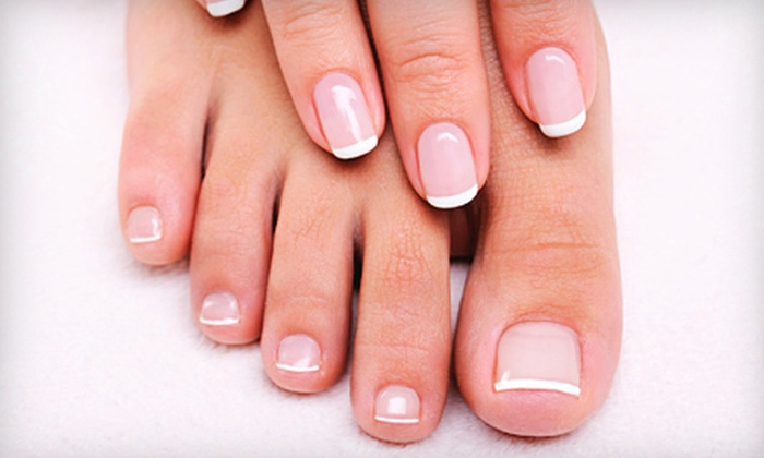 Mapleshade Spa - Far North Dallas: Shellac Manicure and Summer Oasis Pedicure for One or Two at Mapleshade Spa (53% Off)