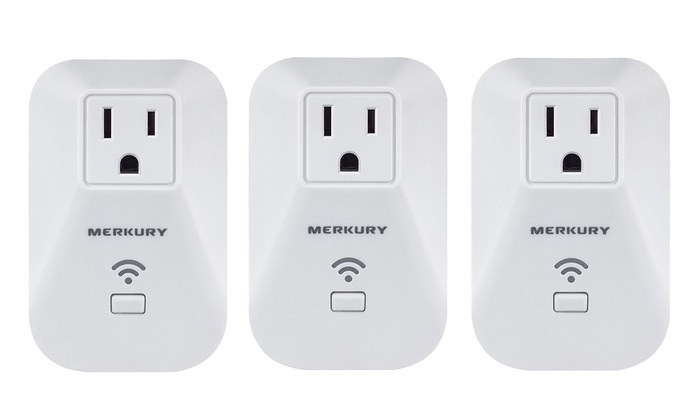 Merkury Innovations Smart Wi-Fi Plug (Compatible with iOS and Android Devices) (3-Pack)