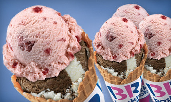 Baskin-Robbins - North Auburn: 5 or 10 Single-Scoop Cups or Cones at Baskin-Robbins (58% Off)