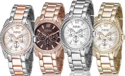 August Steiner Women's Multifunction Crystal Bracelet Watch. Multiple Styles Available. Free Returns.