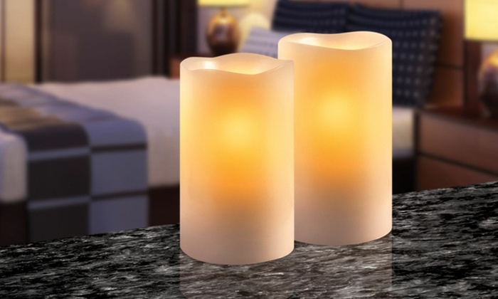 Four-Pack of Flameless Candles With Timers: Four-Pack of Cinnamon-Scented or Unscented Flameless Candles With Timers. Two Options Available. Free Returns.