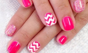 94 West Salon: Basic or French Shellac Manicures or Nail Art Sessions at 94 West Salon (Half Off)