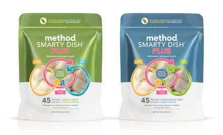 Method Smarty Dish Plus Dishwasher Detergent Packs; 6-Pack of 45ct. Bags + 5% Back in Groupon Bucks