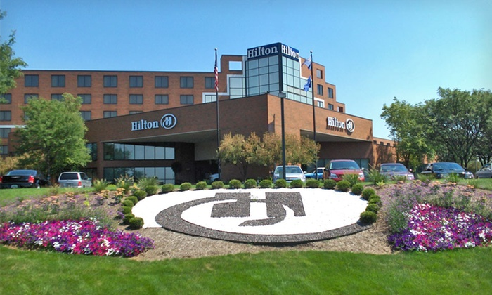 Hilton Indianapolis North - I69-Fall Creek: One-Night Stay with Pulled-Pork Sliders and Two Triton Beers at Hilton Indianapolis North, Valid Sunday–Thursday