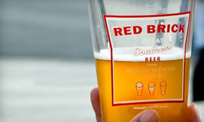 Red Brick Brewery Company - Underwood Hills: $15 for Souvenir Pint Glasses and Coozies for Two Plus Tour and Tasting at Red Brick Brewery Company ($30 Value)