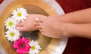 Claudia's Nails: Manicure and Pedicure with Gelish Overlays from R112 at Claudia's Nails (Up to 65% Off)