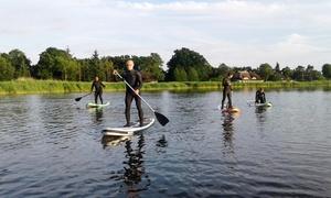Kitesurfschule Darss: Sonnenuntergangs-Tour Stand-Up-Paddle auf dem Prerow-Strom für 1 oder 2 Personen bei Kitesurfschule Darss (20% sparen*)