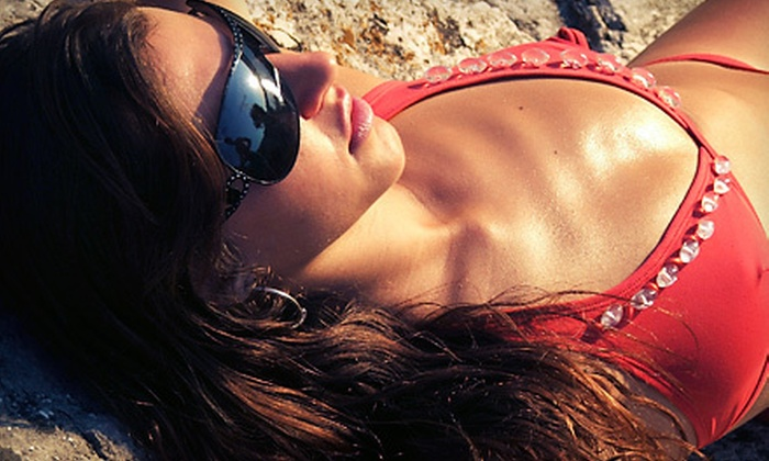 Faux Glow Airbrush Tanning - San Jose: One or Three Spray Tans or a Mobile Spray-Tan Party for Five from Faux Glow Airbrush Tanning (Up to 56% Off)