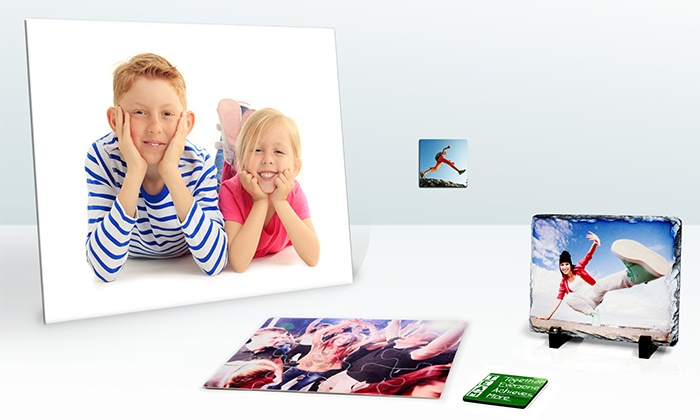 InkDoodle.ca - Markham: Four Photo Coasters, Two Puzzles, One Slate Rock Picture, or Four Magnets from InkDoodle.ca (Up to 62% Off)