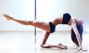Domestic Goddess Studio: $35 for a Pole Fitness Class Package at Domestic Goddess Studio ($140 Value)