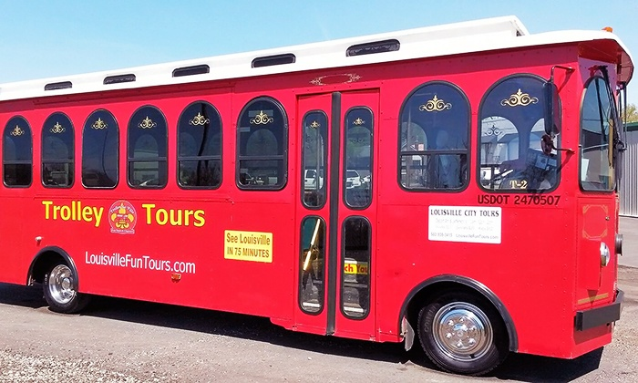Trolley de'Ville - Central Business District: Louisville City Trolley Tour Ticket for One or Two from Trolley de'Ville (Up to 46% Off)