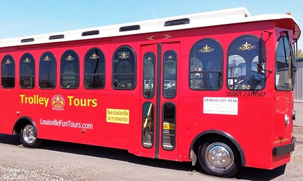 Louisville City Trolley Tour Ticket for One or Two from Trolley de'Ville (Up to 46% Off)