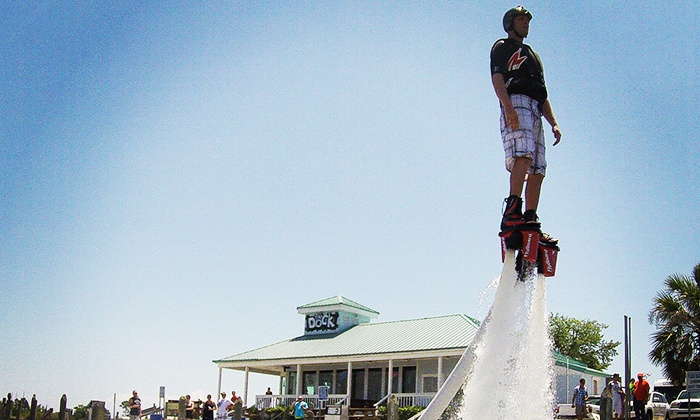 Aquafly New Orleans - Eden Isle: Intro Flyboarding Course with Flight Time for Three or Six People at Aquafly (Up to 51% Off)