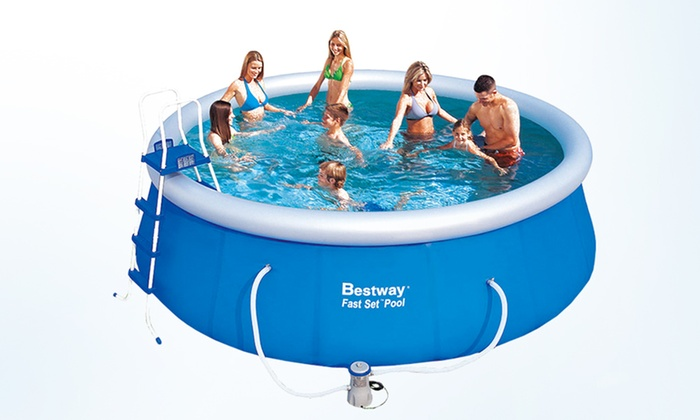 Bestway quick up swimming pool groupon goods for Quick up pool obi