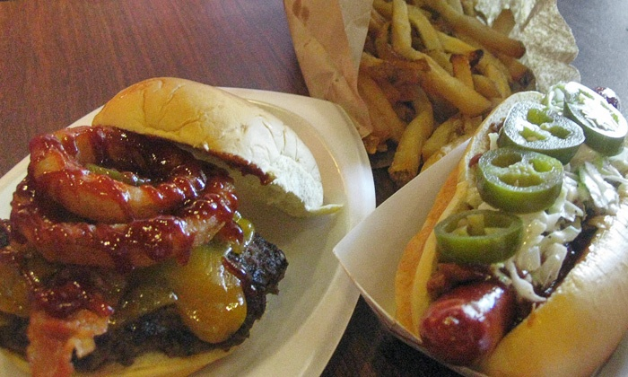 Cool Dog Cafe - Cherry Hill: $10 for $16 Worth of Creative Gourmet Hot Dogs & Burgers at Cool Dog Cafe (38% Off)