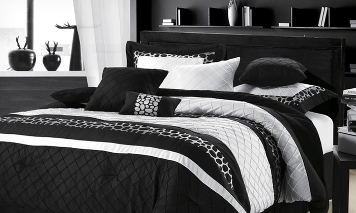 Chic Home 8-Piece Comforter Set: Chic Home 8-Piece Comforter Set (Up to Half Off). Multiple Styles Available. Free Shipping and Returns.