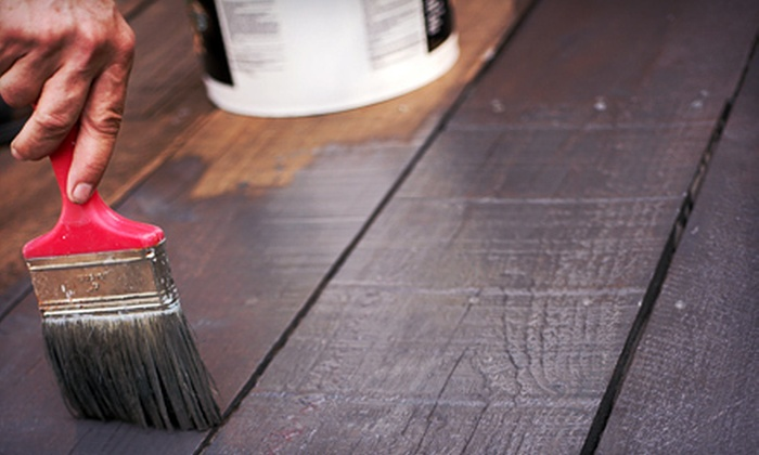 Paint It Forward - Boston: Deck Staining or Interior Painting of Two or Three 12'x15' Rooms from Paint It Forward (Up to 60% Off)