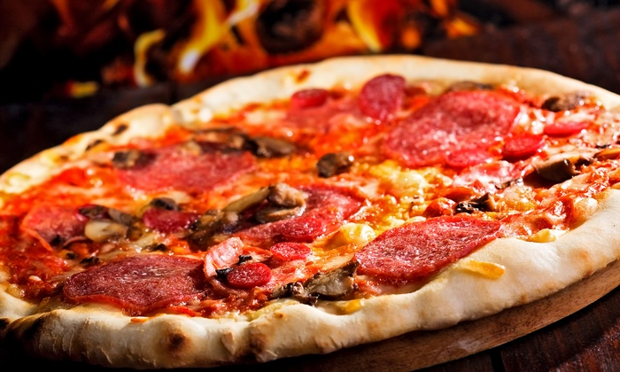 "Grimaldi's Pizzeria - Manhattan: ""Zagat""-Rated Coal-Fired Brick-Oven Pizza at Grimaldi's Pizzeria (Up to 50% Off). Three Options Available."