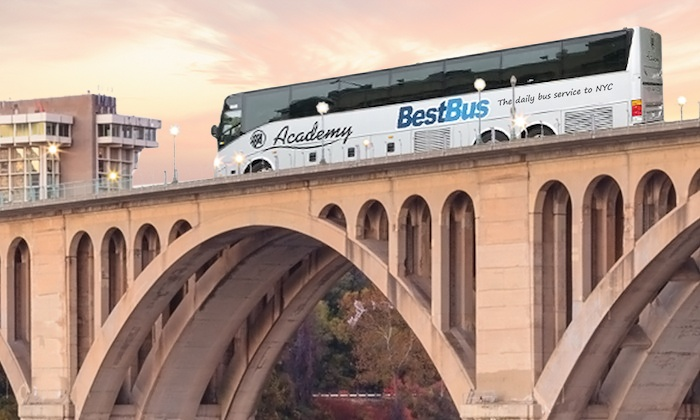 BestBus - Multiple Locations: Round-Trip Bus Ride to New York City from DC or Virginia from BestBus (Up to 55% Off). Four Options Available.
