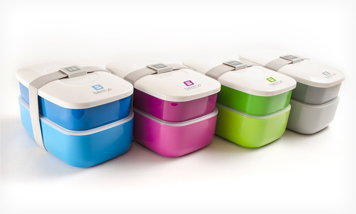 2 Bentgo All-in-One Stackable Lunchboxes: $24.99 for 2 Bentgo All-in-One Stackable Lunchboxes in Blue/Grey, Blue/Green, or Purple/Green ($39.98 List Price)