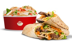 Italio: Pasta Bowls with Side Salads and Drinks for Two or $74 for $100 Worth of Italian Catering at Italio